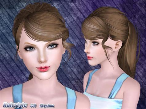 the sims 4 cc hair ponytail skysims hair 140