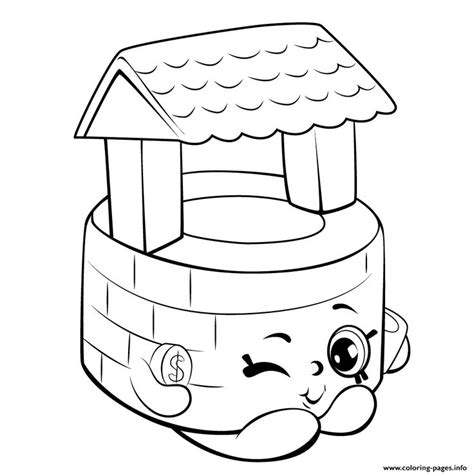 wishing well clipart black and white pencil and in color