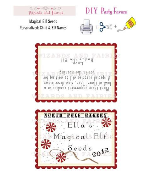 elf on the shelf magic seeds free printable elf on shelf magical seeds directions personalized