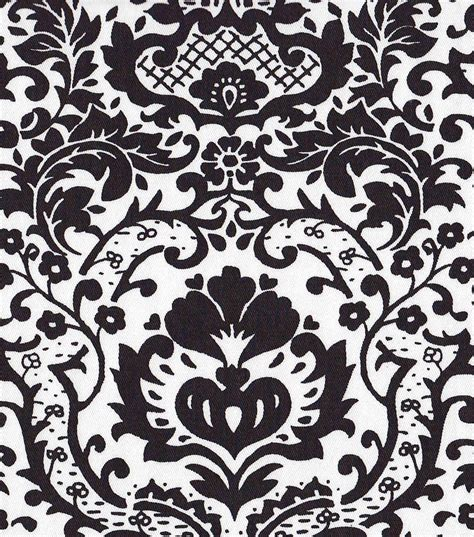 54 home decor value print fabric open damask black