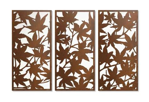 leaf pattern metal screen maple leaf laser cut privacy screen sequence for