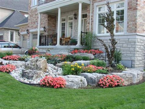 low maintenance landscaping ideas rock and plants home frontyard landscaping great rock ideas for front yard