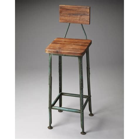 bar stools with low backs wood and metal bar stool with low back of stylish wood and