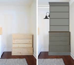 Hang Bookshelf On Wall Turning Store Bought Dressers Into Bedroom Built Ins