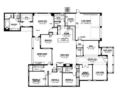 5 bedroom one story house plans luxury 5 bedroom house plans five bedroom eclectic house house