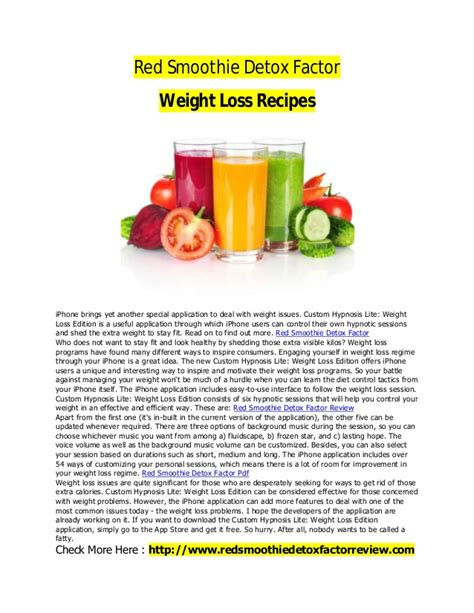 Smoothie Detox Factor Recipes by Smoothie Detox Factor