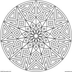 Kaleidoscope Coloring Pages  AZ sketch template