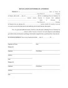 corporate power of attorney template ontario revocation of power of attorney forms and