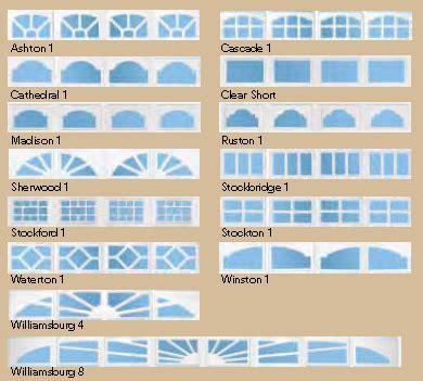 garage door style windows garage door window styles configurations garage door