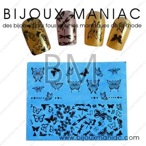 Deco Ongle Papillon by D 233 Coration D Ongles Motifs Papillons Noirs
