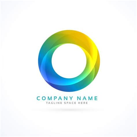 colorful circle logo abstract colorful circle logo free vector