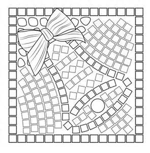 mosaic templates printable bell mosaic coloring page free printable