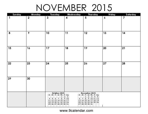 Calendar Template Printable November 2015 November 2015 Calendar Printable And Templates Calendar