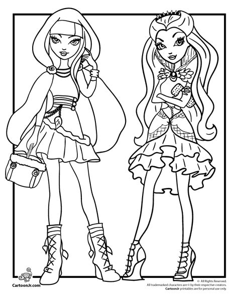 ever after high coloring pages cerise ever after high cerise hood raven queen woo jr