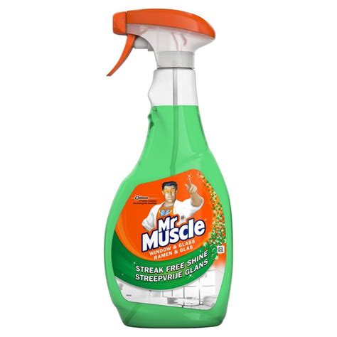 mr muscle 5 in 1 bathroom cleaner mr muscle window glass 5 in 1 with added vinegar 500ml from ocado