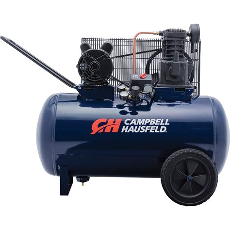 cbell hausfeld portable electric air compressor 3 2 hp 30 gallon horizontal 10 2 cfm