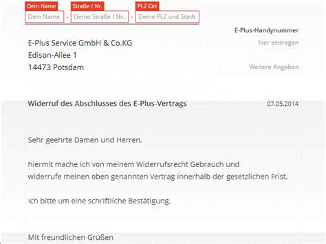 Musterbrief Kündigung Handyvertrag Vodafone Kabel Deutschland Widerruf Vorlage Chip