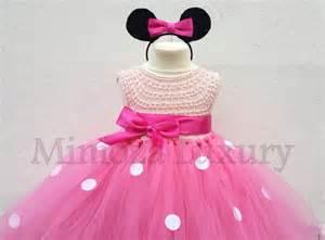 Minnie mouse dress minnie mouse birthday dress flower girl dress pink