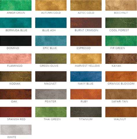 concrete stain color chart eco stain floors