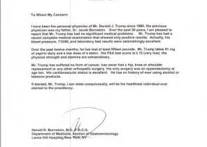 Certification Letter From Doctor healthiest president doctor s letter says us news the guardian