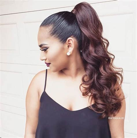 pony tail with fringes back 25 best ideas about high ponytail hairstyles on pinterest