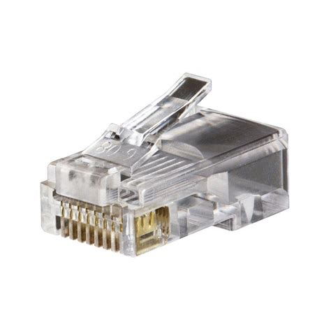 Cat 6 Rj 45 Connector By klein tools modular data rj45 cat5e 50 pack