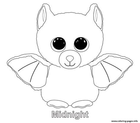 printable coloring pages of stuffed animals print midnight beanie boo coloring pages embroidery