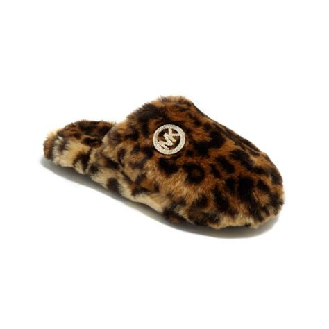 michael kors house slippers michael kors knit scuff slippers in animal lyst