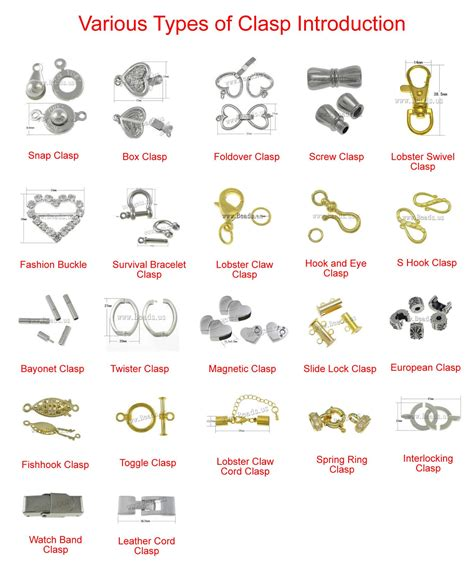 types of jewelry various types of clasp introduction jewelry