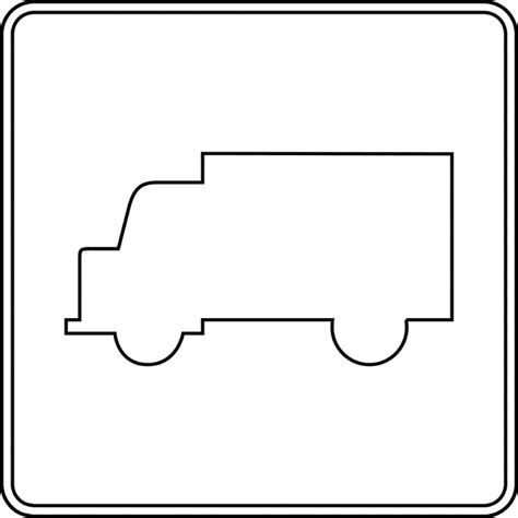 Truck Outline by Truck Outline Clipart Etc