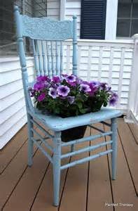 painted therapy the chair planter
