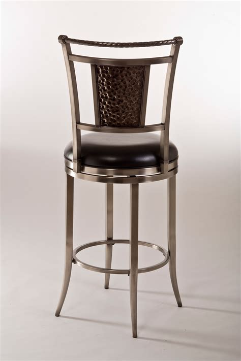 pewter bar stools hillsdale parkside swivel bar stool antique pewter 5320