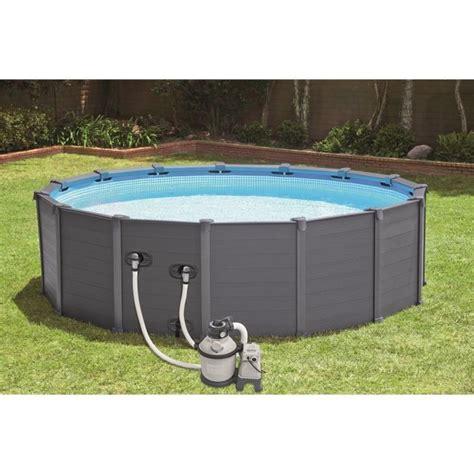 piscine autoportée intex 1099 kit piscine graphite intex 4 78 x 1 24m achat vente