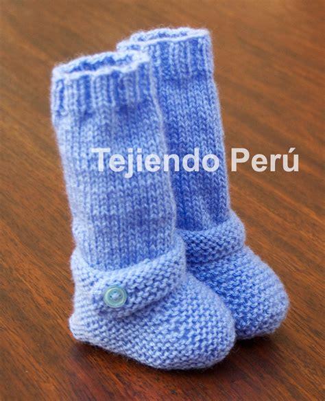 batitas en crochet y dos agujas para bebes 180 00 en mercadolibre botitas largas para beb 233 s tejiendo per 250