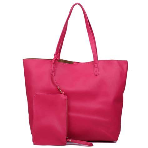 Tote Bag Kaldi Co l1502 miss lulu leather look large vintage tote bag plum