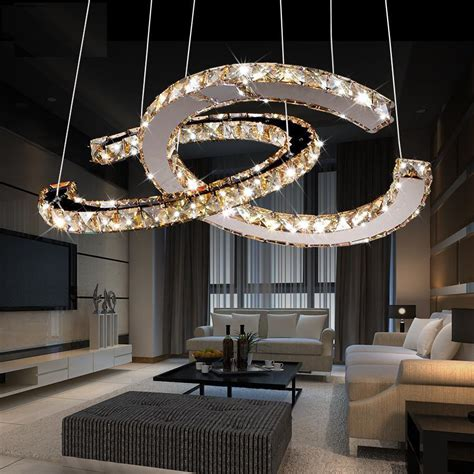 Led Dining Room Chandeliers by Free Shipping 2016 Kabo Sen Circular Led Chandelier