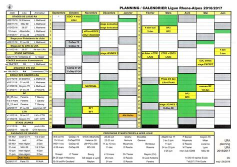 Calendrier V 2016 Aikido Ligue Rhone Alpes Calendrier Lra 2016 2017