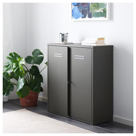 ivar cabinet with doors grey 80x83 cm ikea