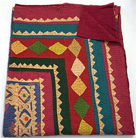Where To Buy Handmade Quilts - indian multi ethnic ajrakh kantha quilt 90 215 108 king size