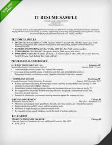 information technology it resume sle computer skills on