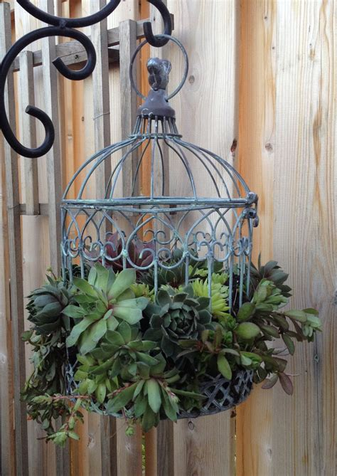 18 beautiful garden decor ideas with birdcage planters