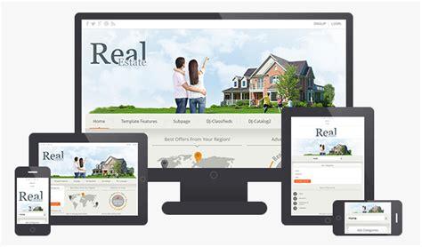 Dj Real Estate02 Responsive Joomla Classifieds Portal Template Dj Classifieds Template