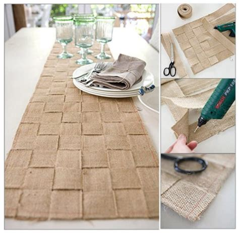 mr kate diy of the day woven burlap table runner