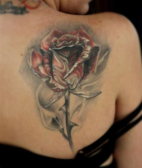 rose tattoo on shoulder blade on shoulder blade best design ideas