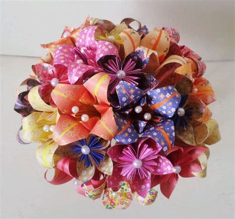 Easy Origami Flower Bouquet - 1000 ideas about origami bouquet on paper