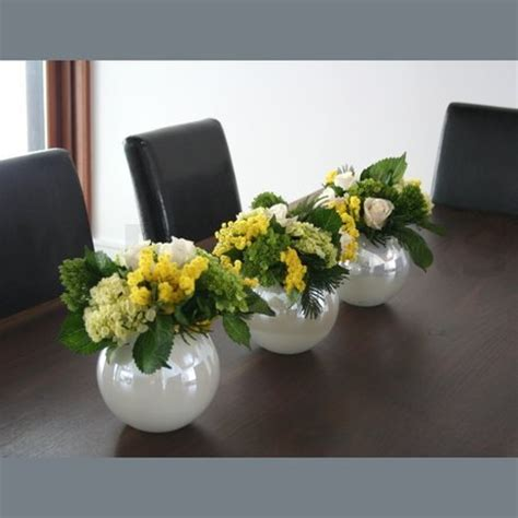 Lime Green White And Yellow Centerpiece W Flowers Ottawa Lime Green Centerpieces