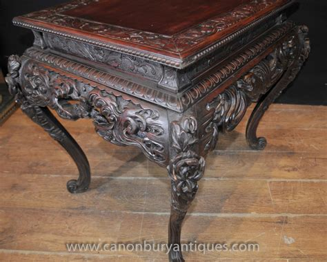 carved coffee table carved antique mahogany coffee table side