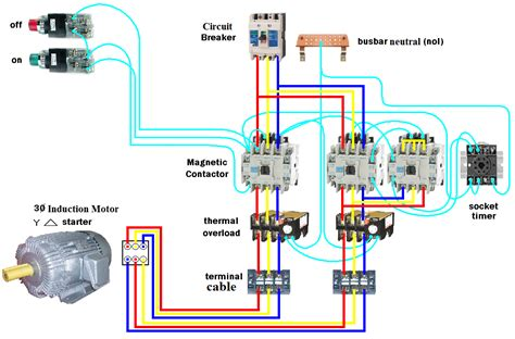 electrical starter wiring diagram electrical page d o l starter motor wiring diagram