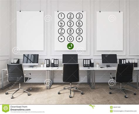 open table contact office call center stock illustration image 68497490