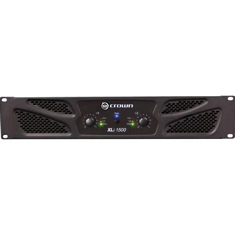 Power Lifier Crown Xli 1500 crown audio xli 1500 stereo power lifier xli1500 b h photo